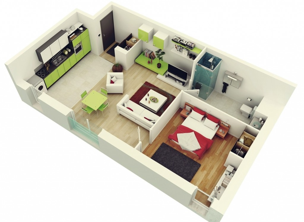 Colorful-1-bedroom-apartment